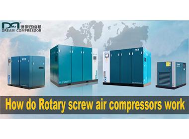 كيف تعمل ضواغط الهواء اللولبية الدوارة